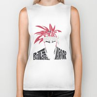bleach Biker Tanks featuring renji abarai bleach by Rebecca McGoran