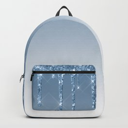 Blue Dripping Glitter Backpack