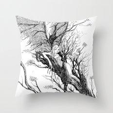 tree nymph Throw Pillow