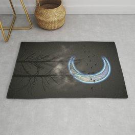 Minimal Moon Rug