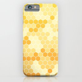 Honeycomb Yellow and Orange Geometric Pattern for Home Decor iPhone Case