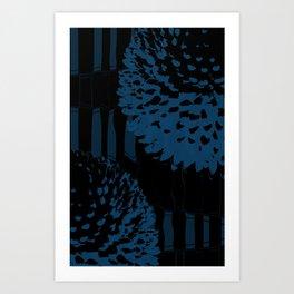 BLUE_FLOWERS Art Print