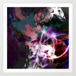 Storm Riders ghostly spooky horses Art Print