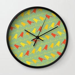 BirdsBirdsBirds Wall Clock