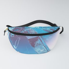 The quiet night, the river, the neon lights, the sky. Fanny Pack
