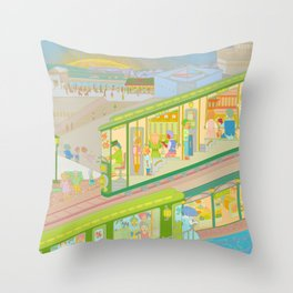 Run To See The Sunset Throw Pillow