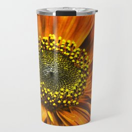 Orange Sunflower Travel Mug