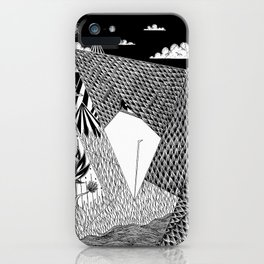 Bird Crossing over the full moon iPhone Case