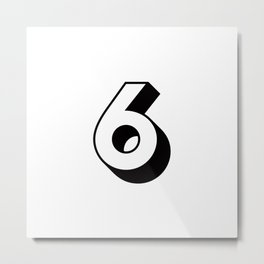 Lucky Number Six ... 6 Metal Print