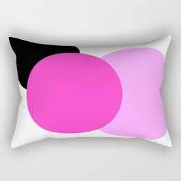 Pink Orchid Black Mod Circles Rectangular Pillow