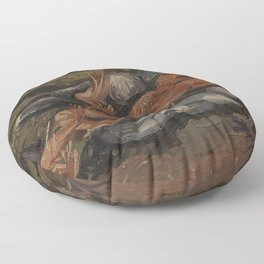 Prawns and Mussels Floor Pillow