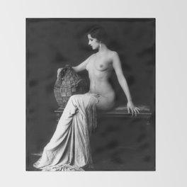 Ziegfeld Follies Girl Throw Blanket