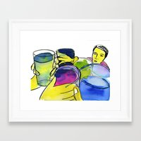 alcohol Framed Art Prints featuring alcohol by Elcee