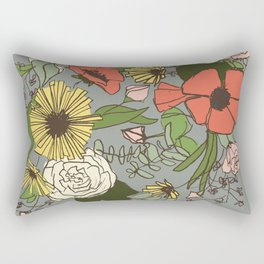 Floral Variety Rectangular Pillow