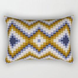 Patchwork pattern - sand and blue Rectangular Pillow