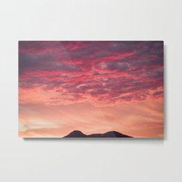 Even the sun sets in paradise Metal Print