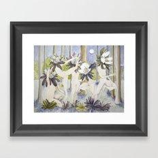 Dance of the Winter Aconite Framed Art Print