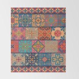 Vintage mosaic talavera ornament Throw Blanket