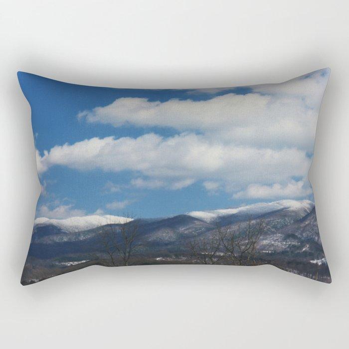 Holston Mountain Snowcaps Rectangular Pillow