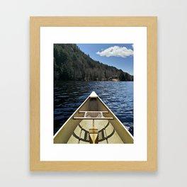 Canoe Ride Framed Art Print