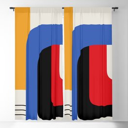 TAKE ME OUT (abstract geometric) Blackout Curtain