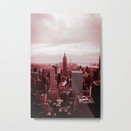 NYC (red tint) Metal Print