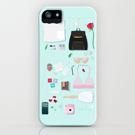 Modern Aphrodite Flat Lay iPhone Case