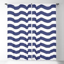 Blue Nautical Waves Blackout Curtain