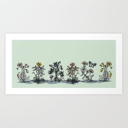 on the side of the road Art Print