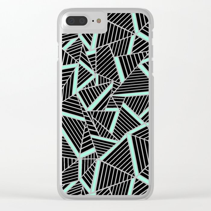 Ab 2 Repeat Mint Clear iPhone Case