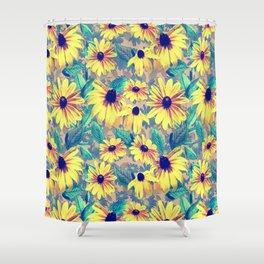 Black-Eyed Susan Pattern 2 Shower Curtain