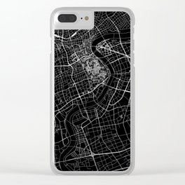 Shanghai Black Map Clear iPhone Case