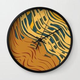 Coastal - abstracted Wall Clock