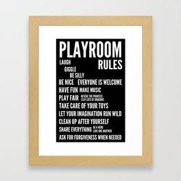 Playroom Rules Framed Art Print
