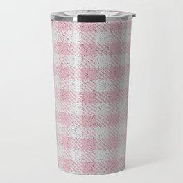 Light Pink Buffalo Plaid Travel Mug