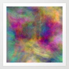 rainbow clouds Art Print
