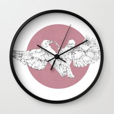 In which scribbly birds fight Wall Clock