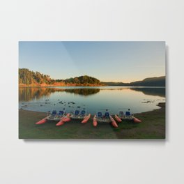 Furnas lake at sunset Metal Print