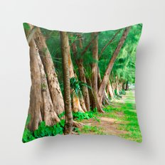 #TROPICAL PARC - MIAMI USA Throw Pillow