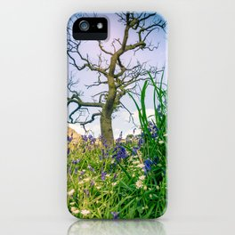 Amongst the Dusty Bluebells iPhone Case