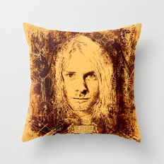 27 Club - Cobain Throw Pillow