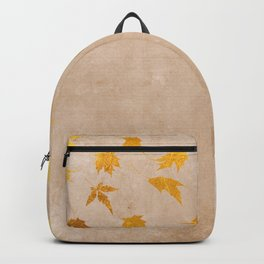 Gold leaves on grunge background - Autumn Sparkle Glitter design Backpack