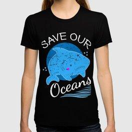 Save The Ocean Shirt Plastic Whale Gift T-shirt