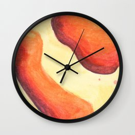 Lava Lamp Study in Reds and Oranges Wall Clock