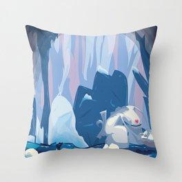 inside iceberg Throw Pillow