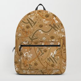 Pumpkin Spice Paw Prints Backpack