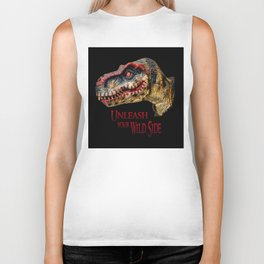 T-Rex Dinosaur - Unleash your wild side Biker Tank