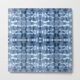 Tie Dye Layered Grid Metal Print