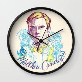 RIP Matthew Crawley, of Downton Abbey.  Wall Clock