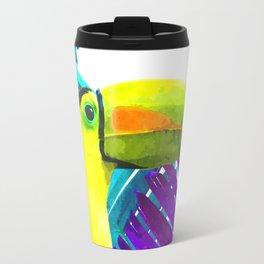 Toucan palm leaves Travel Mug